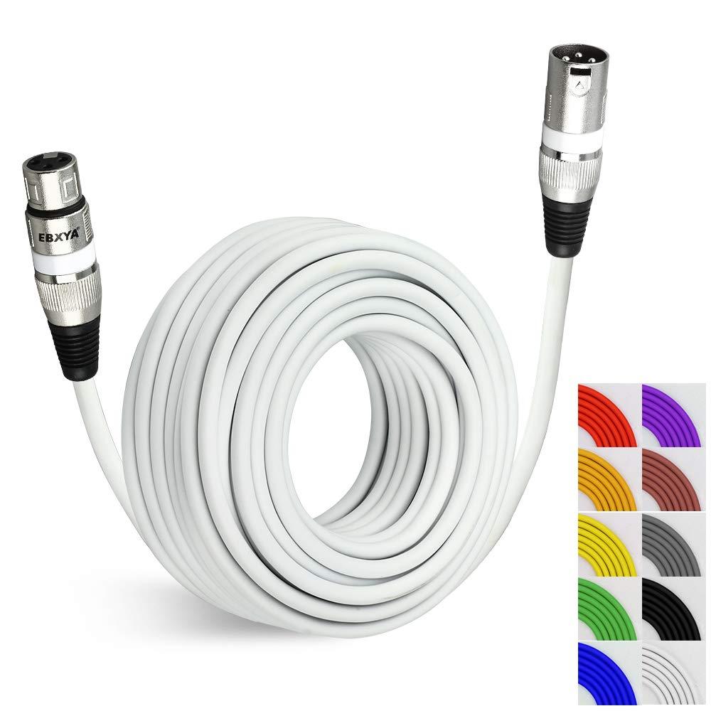 Cable Cannon Xlr 15mt Blanco Dmx Mixer Ebxya