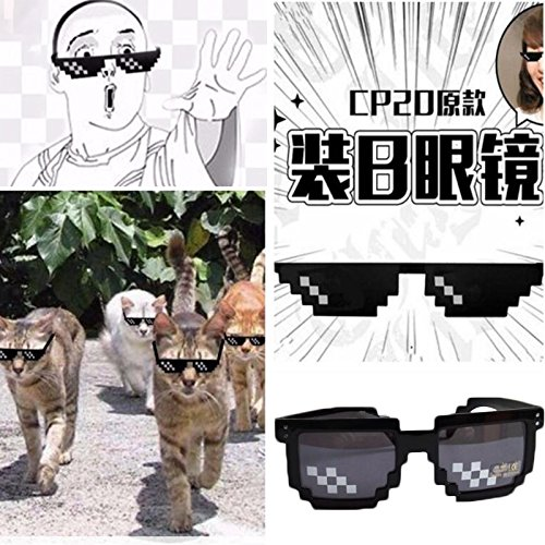 BigFamily Second Element Thugs Sunglasses Mosaic Novelty Special Effects Cosplay