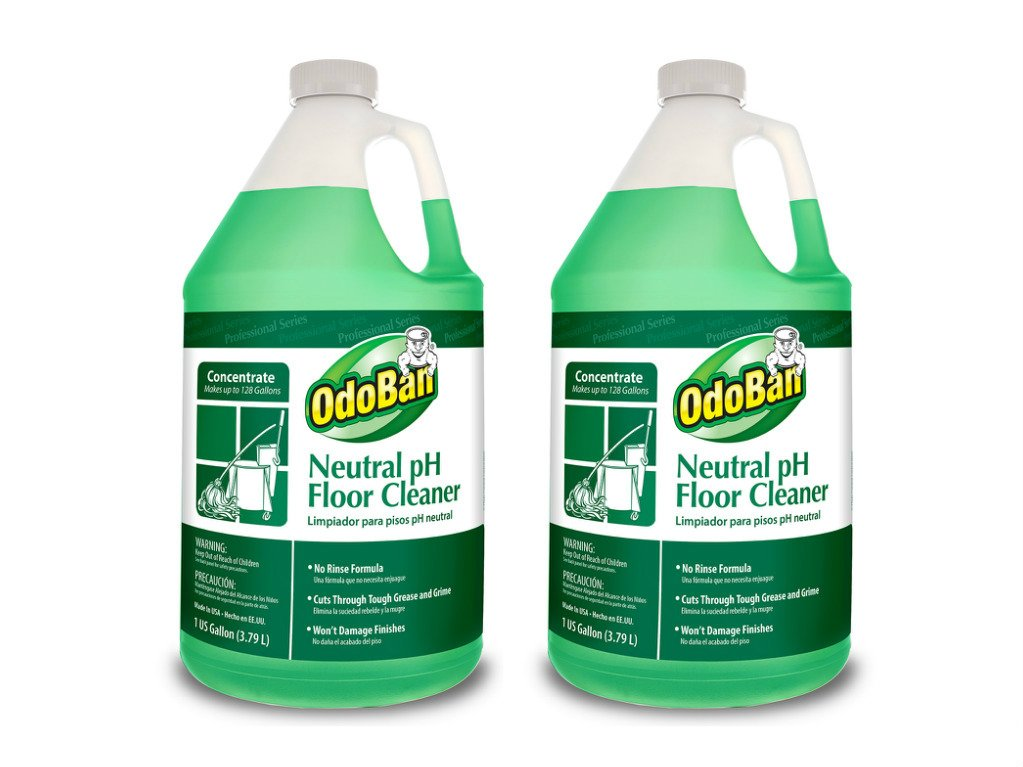 OdoBan 936162-G Neutral Ph Floor Cleaner Concentrate Nsxqa, 2Units (US Gallon)