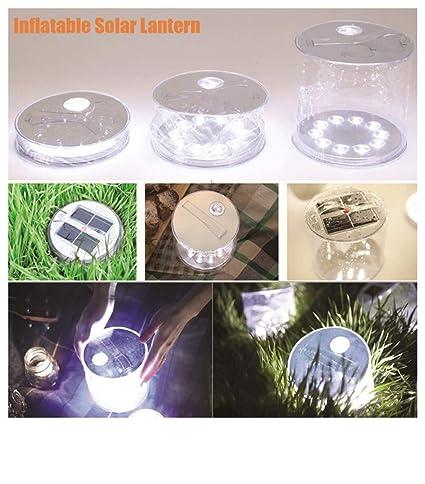 Buimin - Luz LED hinchable plegable solar, lámpara de farol ...