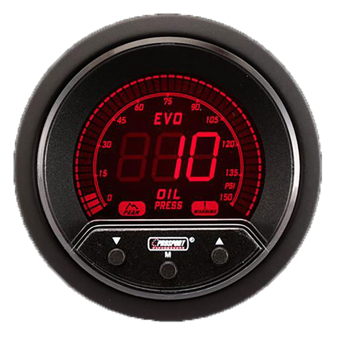 Prosport Performance Reliable 52mm Premium Evo Electrical Oil Pressure Gauge Prosport Gauges 216EVOOPPKPSI
