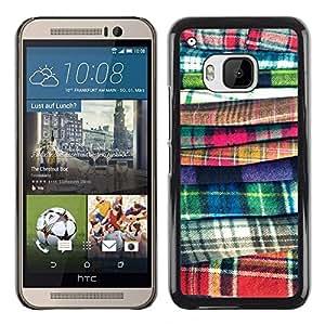 """HTC One M9 , JackGot - Impreso colorido protector duro espalda Funda piel de Shell (Moda tela Costura Diseño Ropa"""")"""