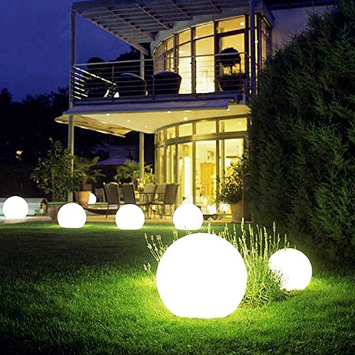 Tker Solar Light Ball Waterproof Floating 16RGB Solar Power Light 6-inch LED Color-Changing with Remote Control Great for Night Light Party Pool Patio Ambient & Decorative Lighting by Tker