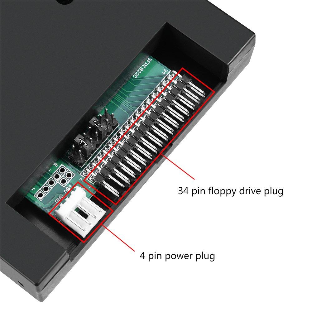 Yosoo USB Emulator, 3.5'' 1.44MB SFR1M44-FUM-DL Floppy Drive Emulator for Industrial Control Equipment by Yosoo (Image #3)