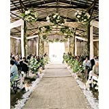 40 Inches By 75 Feet Burlap Aisle Runner By HomeTex