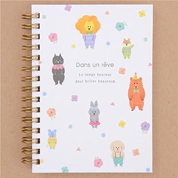 Mind Wave Linda libreta con león, Gato, Oso, Lunares, etc. con Tapa Dura: Amazon.es: Hogar