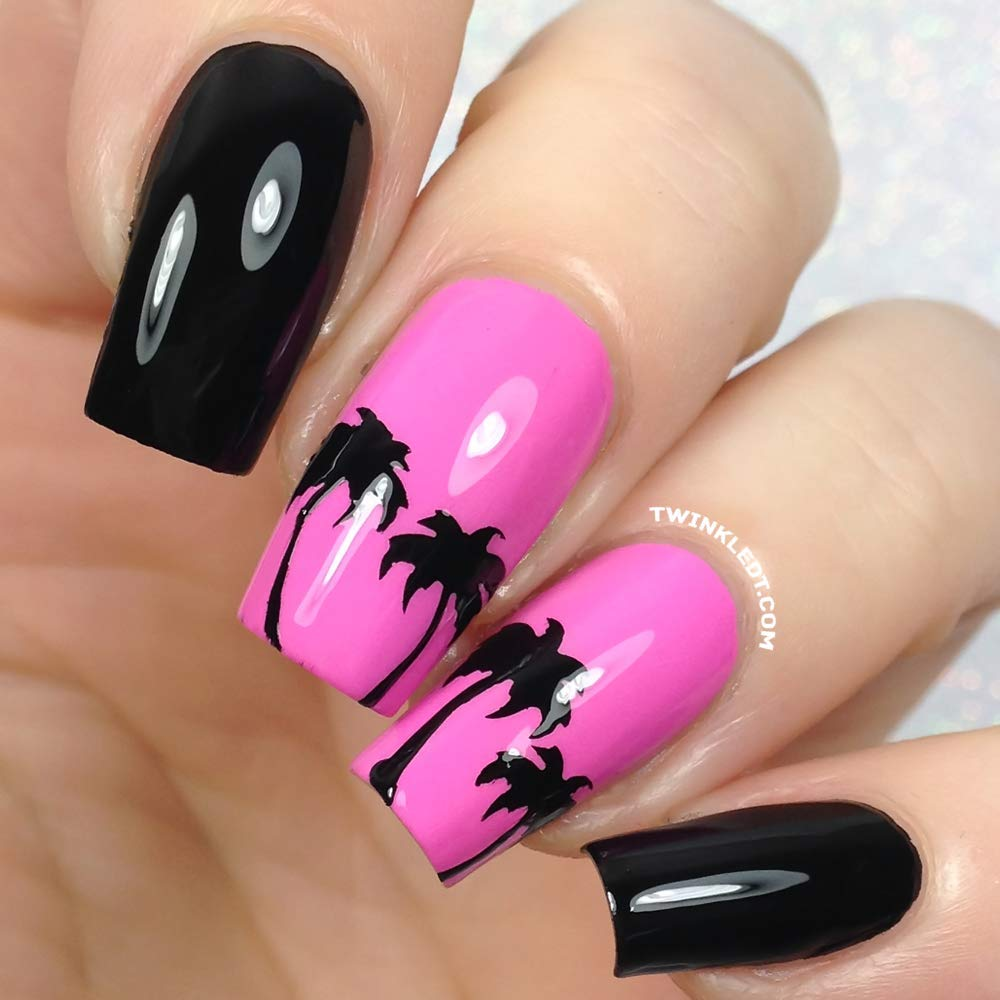 Amazoncom Palm Tree Nail Vinyls By Twinkled T 1 Sheet