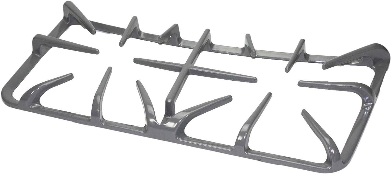 GE WB31K10213 Double Burner Grate - Left Side - Gray: Home Improvement