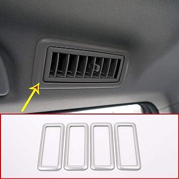 Plástico ABS Lámpara de lectura del techo Marco de la cubierta del ajuste Accesorios del coche Plata mate para Land Cruiser Prado FJ150 150 2010-2018: ...