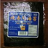 Sushi Nori Seaweed Sheets - 50 Sheets - Blue Gyoumu Yo Premium Quality 5.29-Ounce Sealed Pouche by Blue Gyoumu Yo