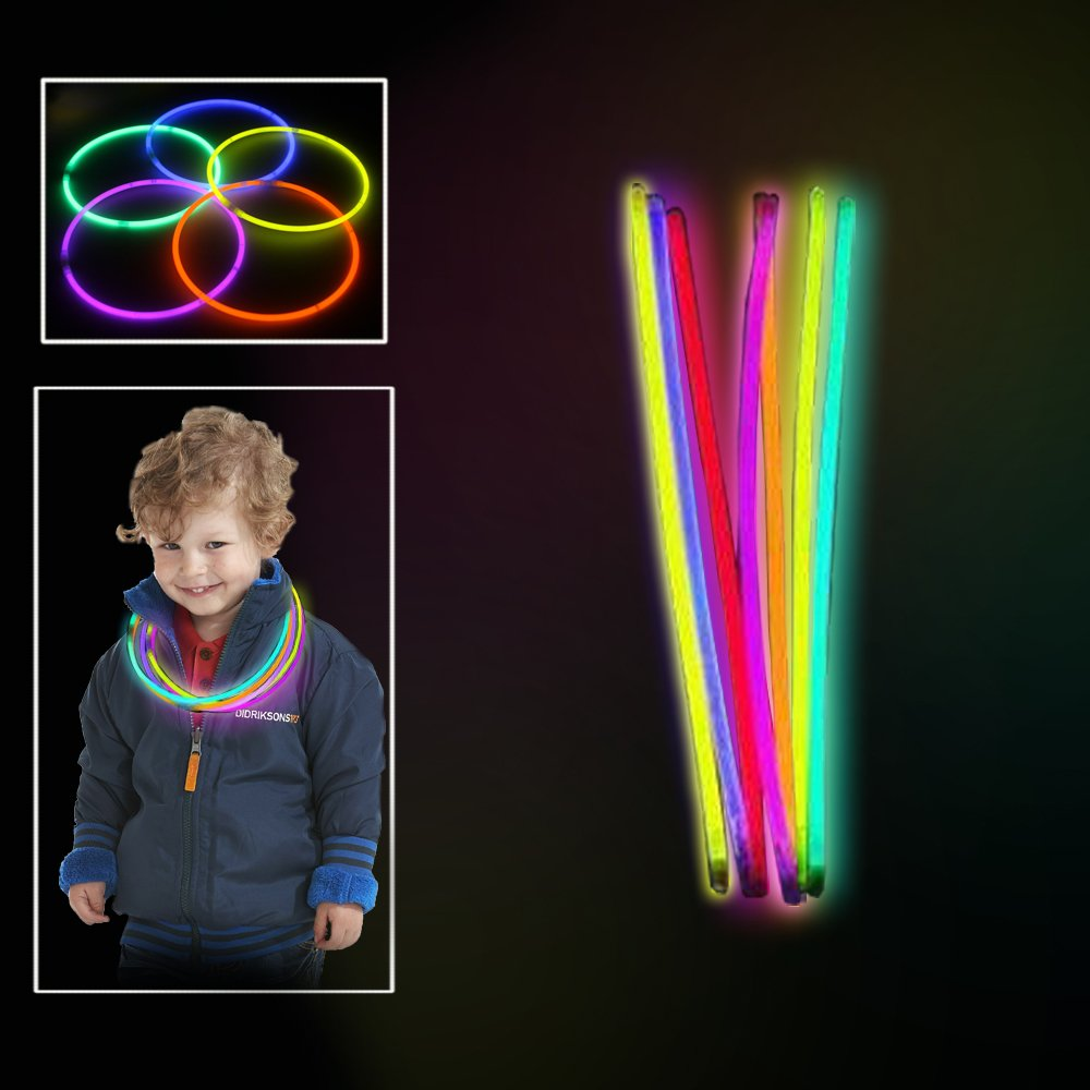 Toy Cubby Extreme Bright Non Toxic Glowing Colorful Sticks 100 pack