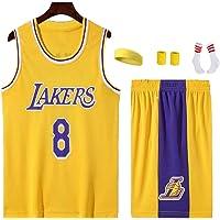 Kinderbasketbal Jersey, Lakers Jersey Klassieke herdenkingsjersey # 8 Swingman, het beste kinderdagcadeau yellow 8-S