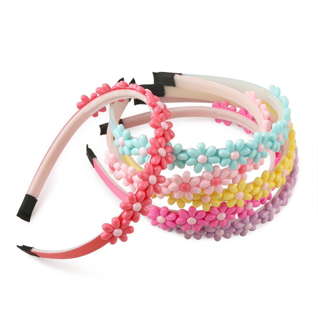 XIMA 6pcs Flower Headband for Girls Teens Kids Gifts Hair Accessories Spring Colors by XIMA