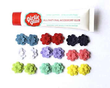 2c6df4648 Amazon.com: Girlie Glue Tube and 9 Pairs of Felt Flower Earrings ...