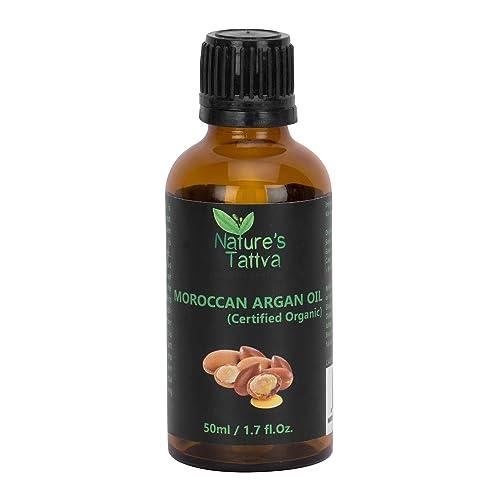 Nature's Tattva Certified Organic Cold Pressed Moroccan Argan Oil, 50ml