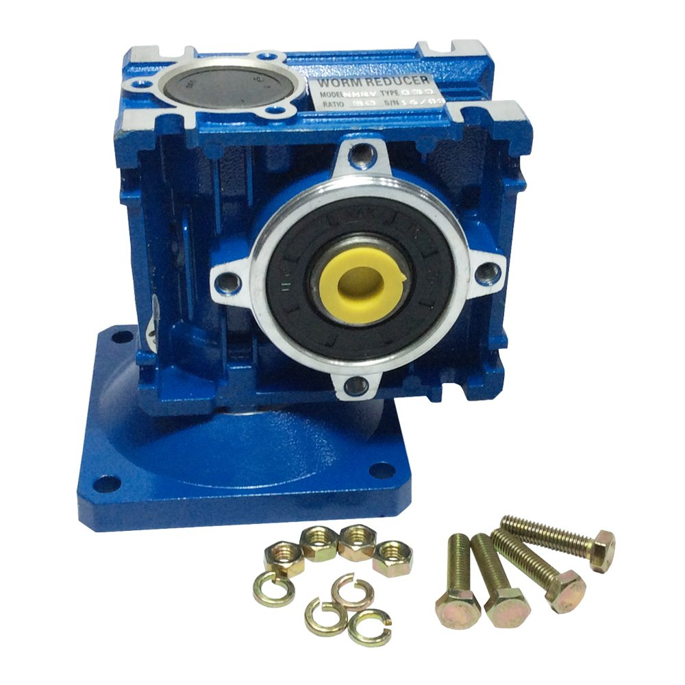 BEMONOC Right Angle Gearbox Geared Speed Reducer RV030 Ratio 1/7.5/10/15/30/40/50/60/80