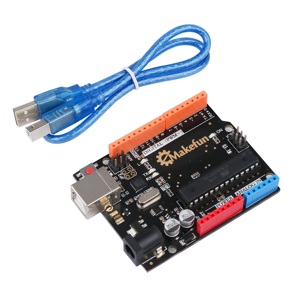 Emakefun UNO R3 Microcontroller Board ATmega328P with USB Cable for Arduino by Emakefun (Image #1)