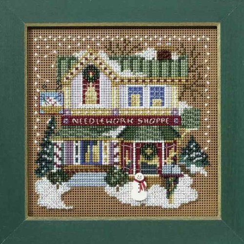Mill Hill MH148302 Needlework Shop Beaded Counted Cross Stitch Kit 2008 Buttons & Beads Winter Christmas Village Series - $16.97