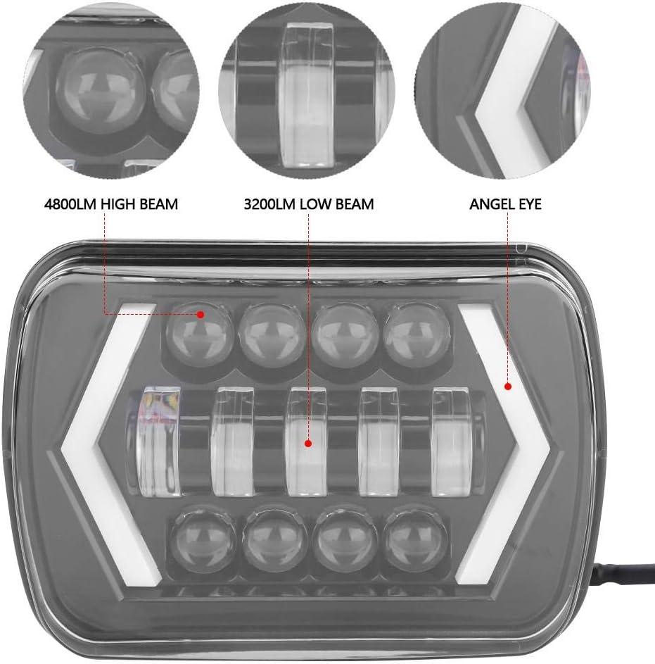 Phares de voiture phares de voiture 7LED phares carr/és de lumi/ère LED avec clignotants Wr p/êcheur 1996-2017
