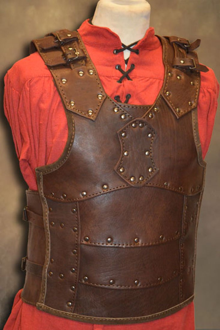 Souvenir India Genuine Leather Vest 4mm Leather Armor Larp Armor Sca Armor Medieval Dress by Souvenir India