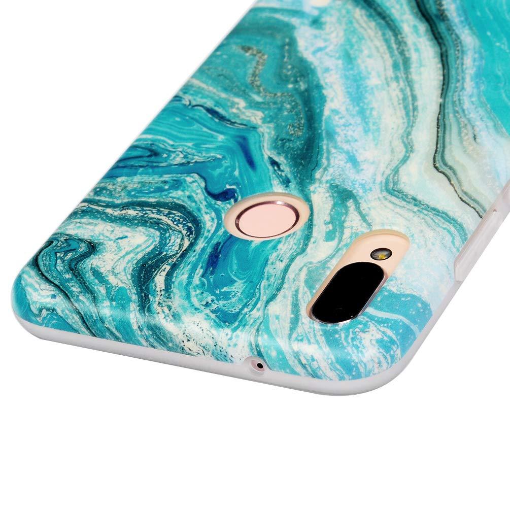 P30 Lite Marmor Handyh/ülle Handytasche Kompatible f/ür Huawei P30 Lite H/ülle Silikon Matt Marble Muster Case Cover Tasche D/ünn Weiche Schutzh/ülle Schlank Skin Softcase Schale Bumper Deckel-Blau Gr/ün