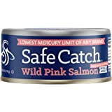 Safe Catch Wild Pink Salmon, No Salt Added – 5 Ounce Cans (6 Pack)