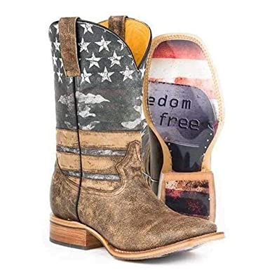 b1f456990e5 Amazon.com | Men's Tin Haul Freedom Boots with Dog Tags Sole ...