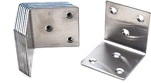 MTMTOOL Shelf Brackets 50 x 50 x 50mm Corner Brace Bracket L Shape 90 Degree Angle Bracket Pack of 8