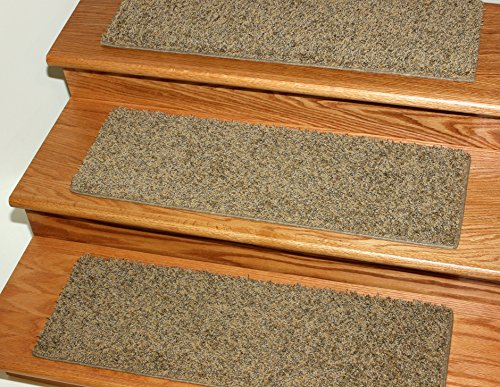 Dog Assist Carpet Stair Treads / Size: 9'' x 27'' (set of 13) Includes 1 roll of double Sided Carpet Tape for Easy Do-it-Yourself Installation by Koeckritz Treads