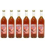 Erdbeer-Rhabarber-Saft vom Bleichhof - 100% Direktsaft, naturrein und vegan. OHNE Zusatzstoffe und Zuckerzusatz. 6er Pack (6 x 0,72 l)