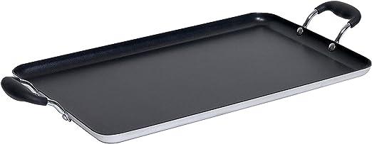 IMUSA USA IMU-1814 Double Burner Griddle Non-Stick 16-Inch Black