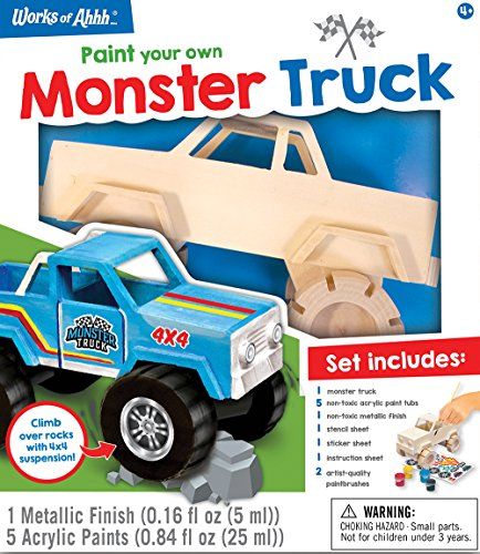 MasterPieces Works of Ahhh Monster Truck Wood Craft ()