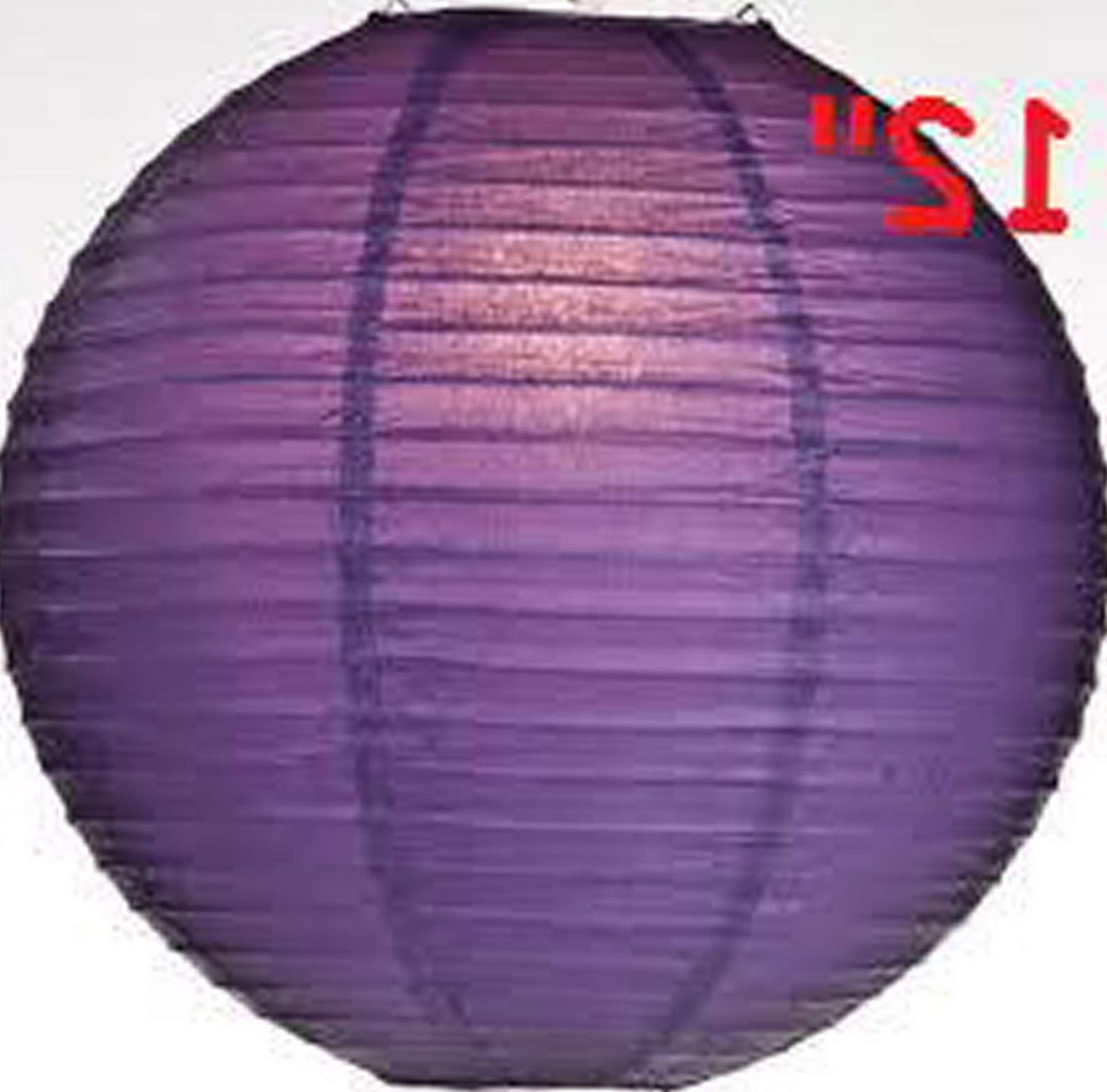 Mikash 12X Round Chinese Paper Lanterns lamp 12 Wedding Party Floral Event Decoration | Model WDDNGDCRTN - 25474 | with Light