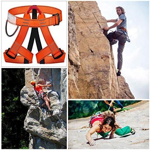 WILDKEN Arnés de Seguridad de Escalada para Hombre Mujer Alpinismo Cuerda Equipo Escalada Ajustable Al Aire Libre Rappel Cinturón Seguridad de Rescate