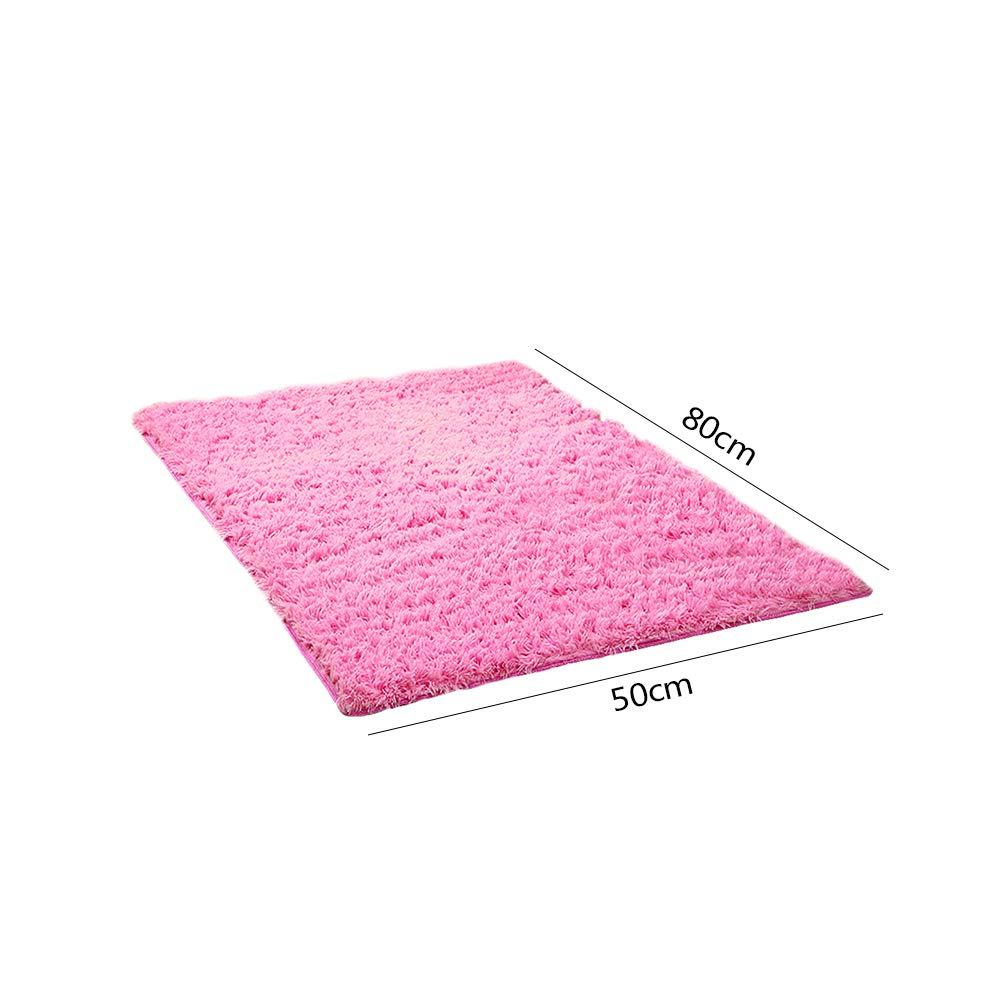 Alfombra de Yoga Suave Antideslizante contempor/ánea para Sala de Estar Dormitorio Rosy 50 * 80cm VEVICE