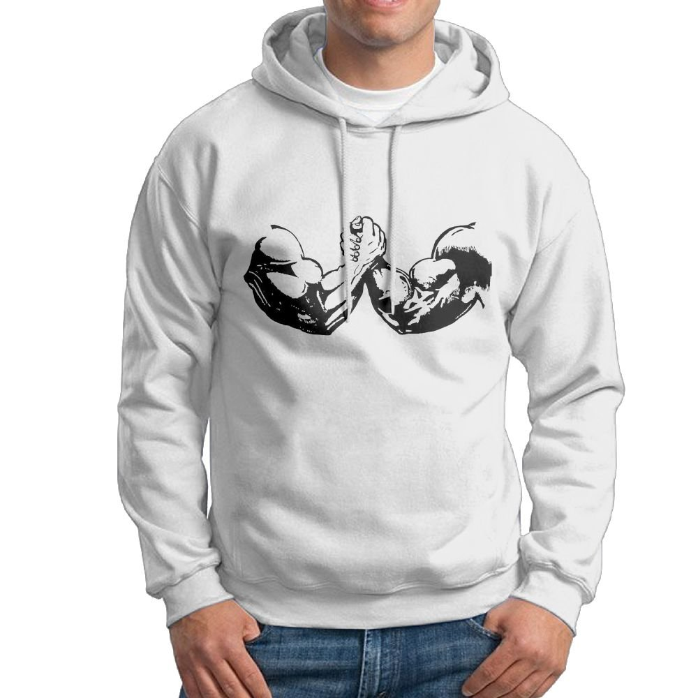 Fashion Men's Arm Wrestling Hooded Sweatshirt by ZW&LC