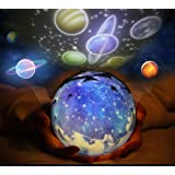 Star Night Light Projector for kids, Cosmos Sleep LED Night Light Lamp with Starry Sky, happy birthday, Universe space, USB Cable Plug for Kid Bedroom, beside table lamp, best Christmas Gifts