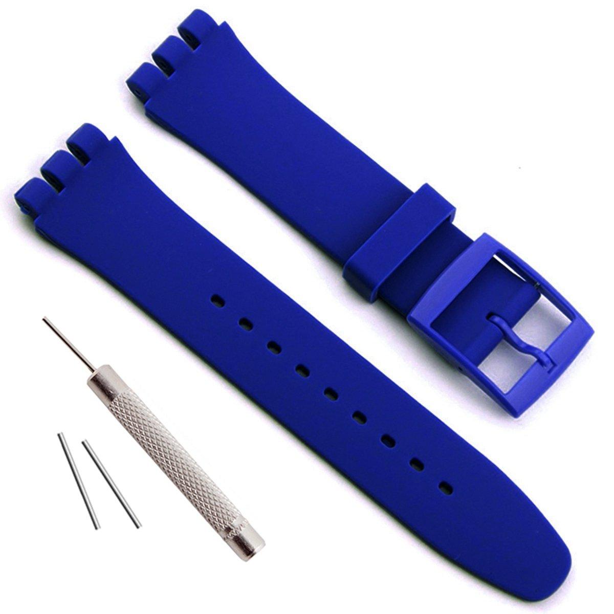 防水シリコンラバー腕時計交換用ストラップ腕時計のバンドの見本( 17 mm 19 mm 20 mm ) 17mm アジュール 17mm|アジュール アジュール 17mm B077BXY2LY