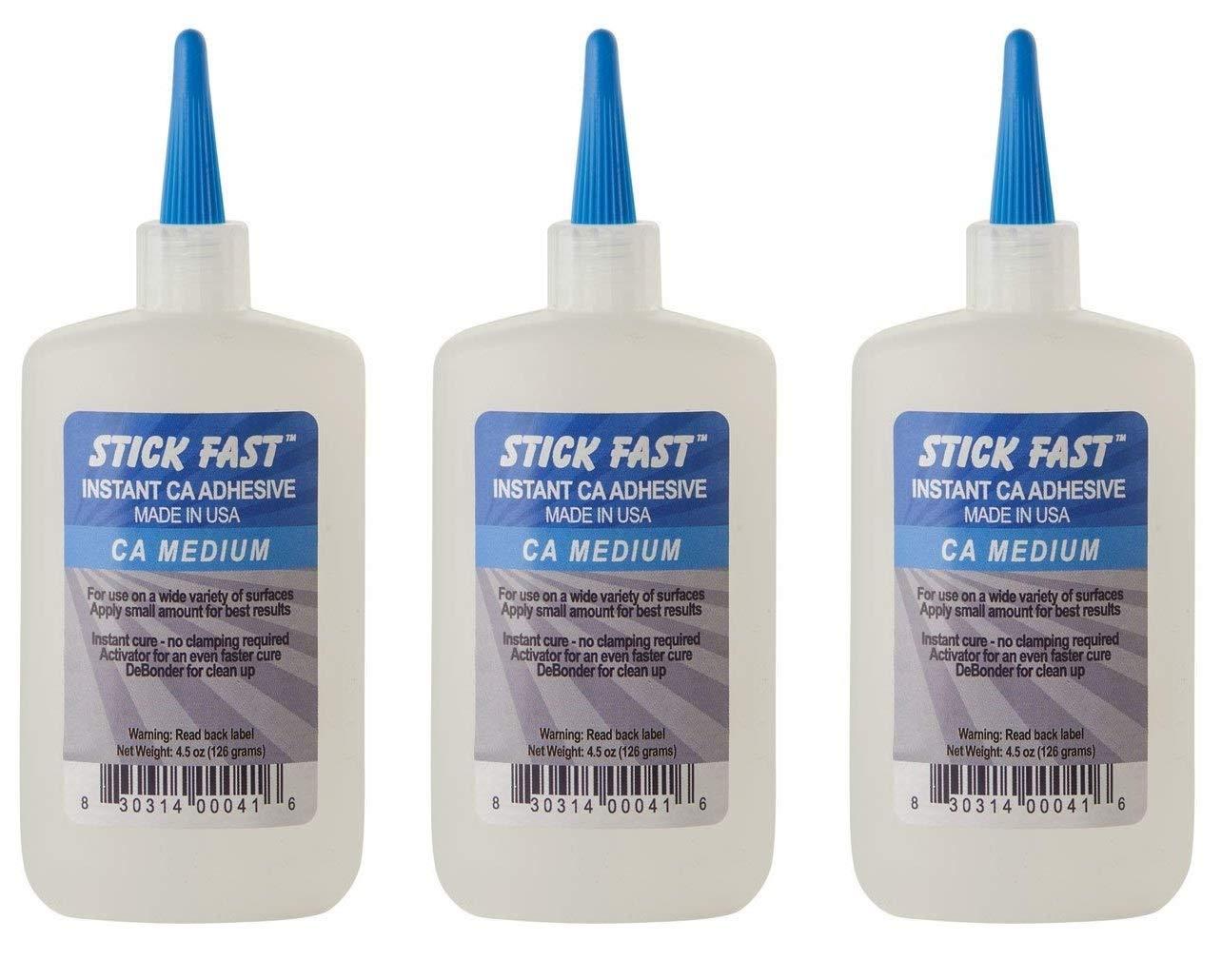 Rockler Cyanoacrylate Quick-Set Medium Adhesive, 4 oz Bottle (3-(Pack))
