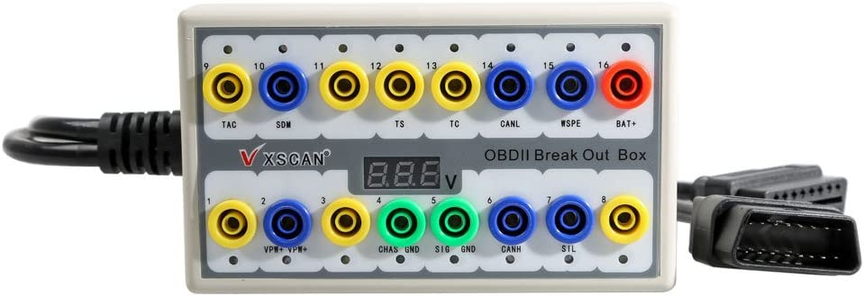 OBDII Protocol Detector /&Break Out Box Wide Range OBD2 Diagnostic Tool Free Ship