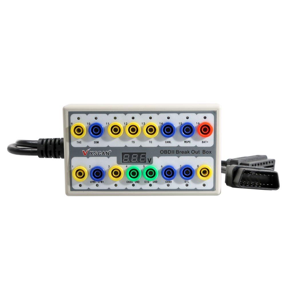 VXDIAG OBDII Breakout Box OBD2 Protocol Detector OBD2 Diagnostic Connector Detector