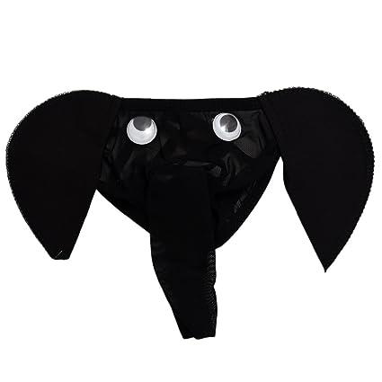 SODIAL(R) Ropa interior del elefante de hombre sexy Tanga Calzoncillos de bolsillo G
