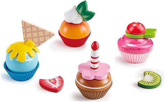 Hape- Cupcakes de Madera, Color carbón (E3157): Amazon.es ...