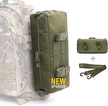 WYNEX Tactical Increment Molle Pouch, Vertical EDC Utility Pouches Sling Bag Militar Multiusos de Gran Capacidad con Correa para el Hombro Accesorio Impermeable Diseño Modular: Amazon.es: Deportes y aire libre
