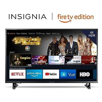 479b14f20f6d Amazon.com: Insignia NS-43DF710NA19 43-inch 4K Ultra HD Smart LED TV HDR -  Fire TV Edition: Electronics