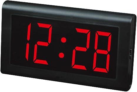 Relojes LED Reloj de mesa, Reloj de pared LED, Números grandes Relojes digitales de pantalla grande , red: Amazon.es: Hogar