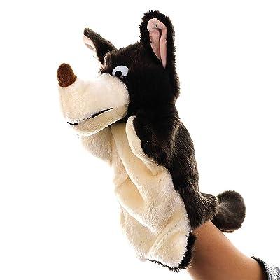 BUDIUK Marioneta Marionetas de Mano Juguetes de Peluche Animal Wolf Kindergarten Story Juguetes de muñecas Suaves for niños Niños (marrón): Hogar