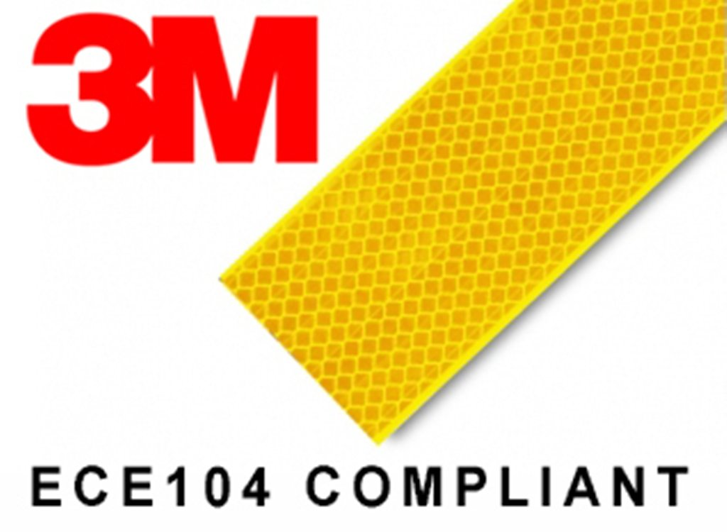 3M High Intensity Reflective Conspicuity Tape, Yellow, 2 Inch Width X 2 Feet product image