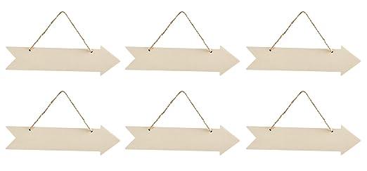 Amazon.com: Placa de flecha de madera para colgar – 6 ...