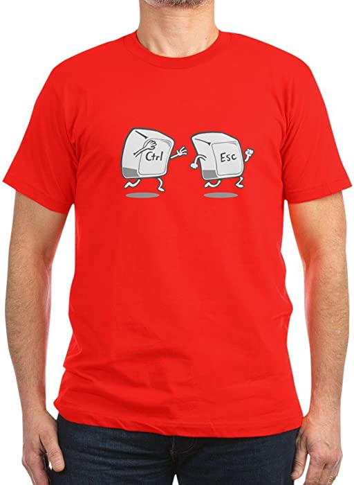 75de6d4250b Amazon.com  CafePress - Funny! Ctrl Esc Keys T-Shirt - Men s Fitted ...